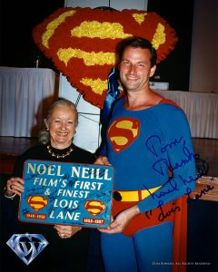 Noel Neill with Super fan Tom Nagy in 1997.
