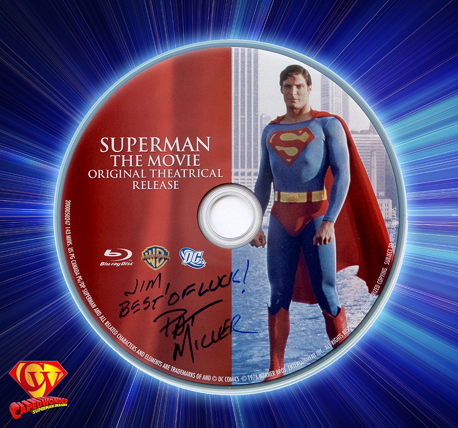 Senior Mastering Colorist Pat Miller autographed this Blu-ray disc, the Superman Anthology box, and the Lord of the Rings box for Jim Bowers on January 13, 2012 at Warner Bros. Motion Picture Imaging in Burbank, CA.
