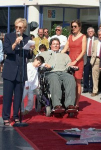 Christopher Reeve at the Hollywood Walk Fame