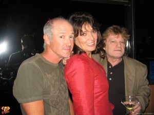 Marc McClure, Sarah Douglas and Ilya Salkind.