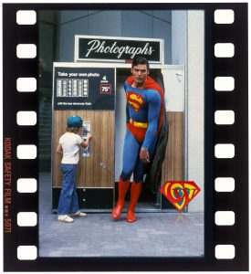 Aaron Smolinski and Christopher Reeve 35mm color slide