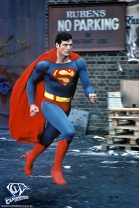 Clark Kent transforms into Superman in the alley in Superman II.