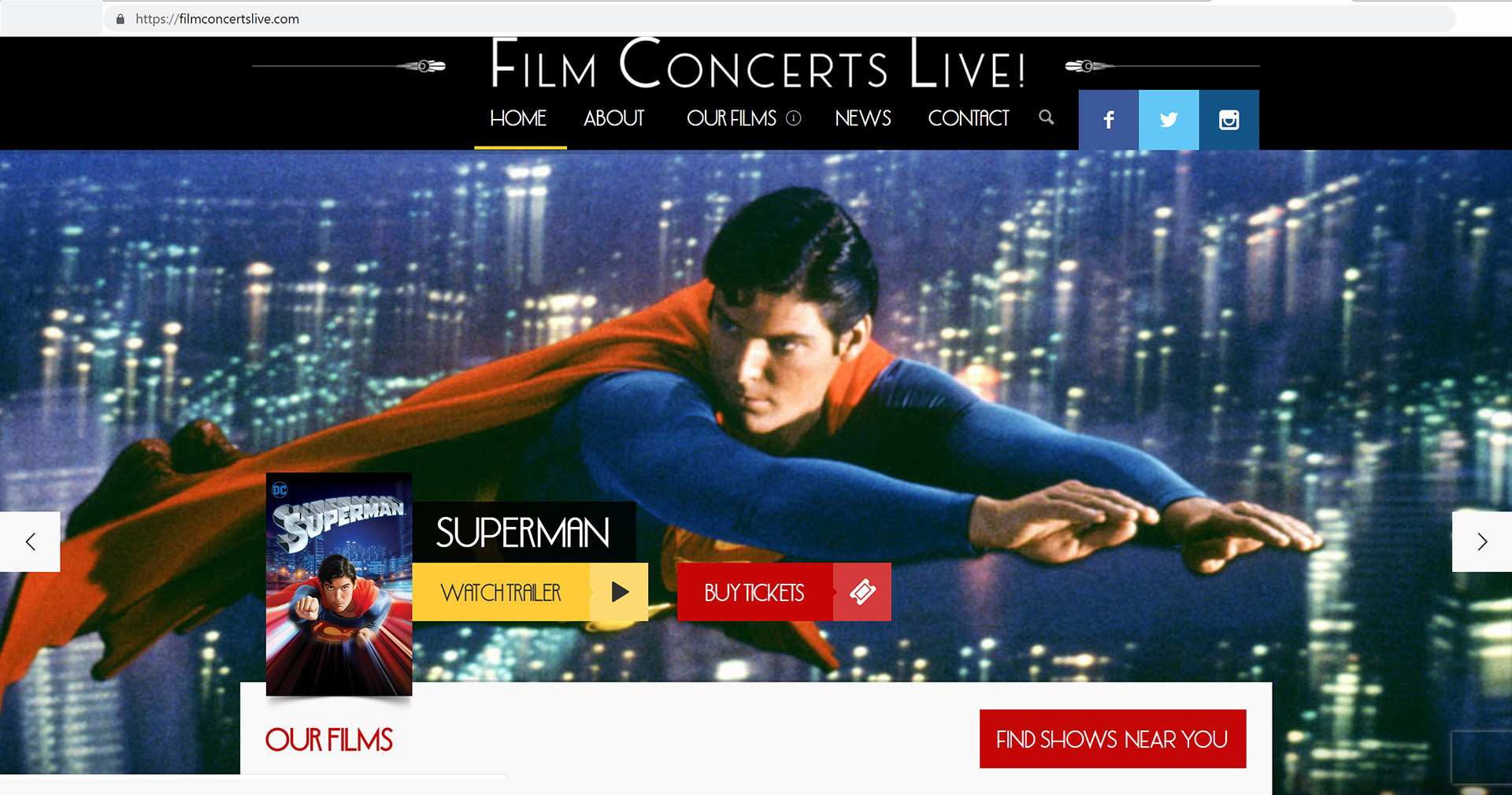 Film Concerts Live Presents Superman: The Movie!