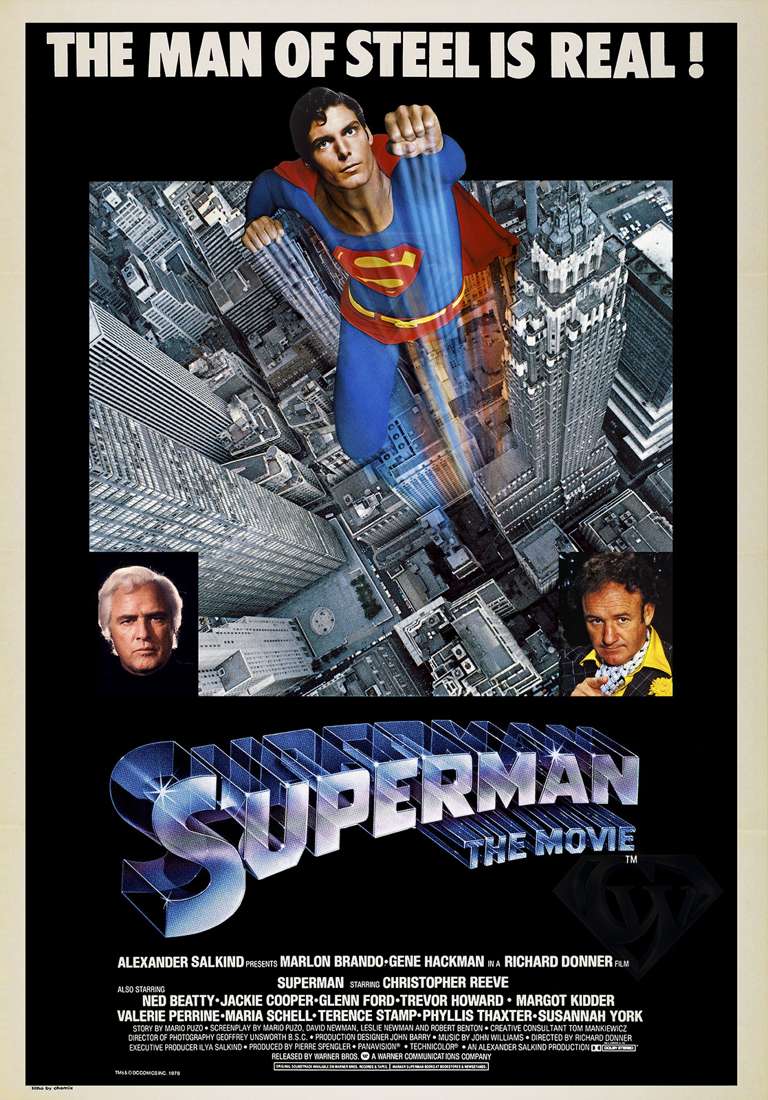 Superman The Movie The Man of Steel is Real Poster
