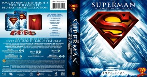 Superman The Motion Picture Anthology Blu-ray box set artwork.