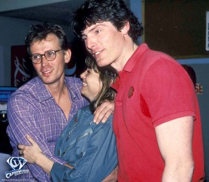 Peter Weller, Karen Allen and Christopher Reeve in 1985.