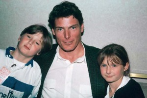 Christopher Reeve with Son and Daughter