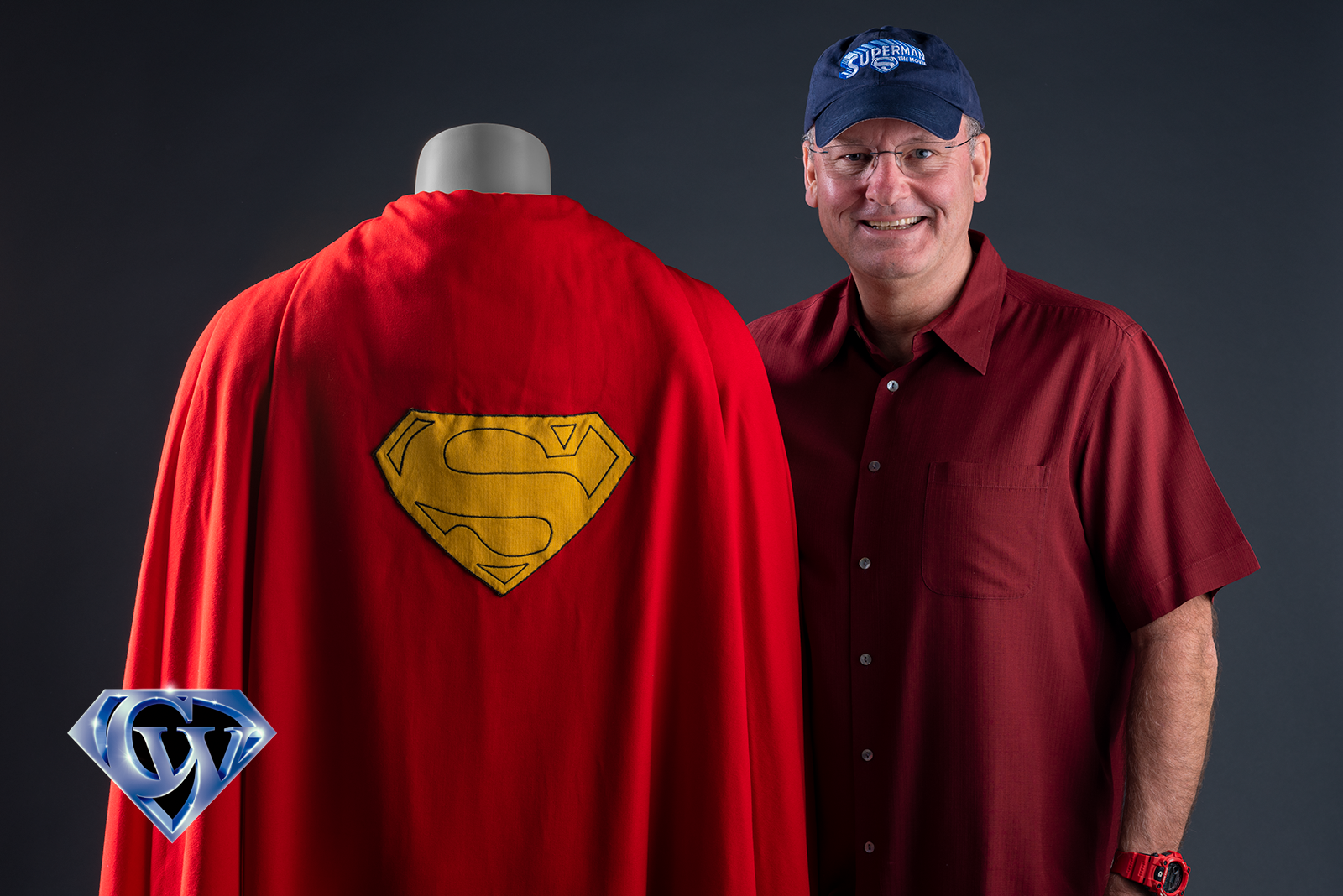 Jim Bowers with Second Superman Movie Contest Caped, December 15, 2019 at Julien's Auctions