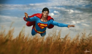 Superman III Ricky's rescue re-created. Featuring a custom costume.