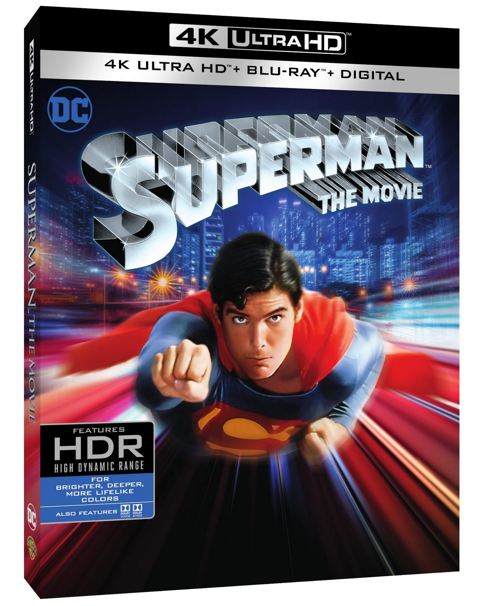 Superman 4K 3D box art