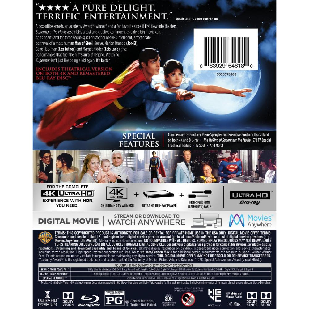 Superman 4K 3D box art-back