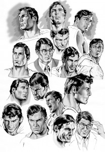 Christopher Reeve Superman & Clark Kent montage by Nacho Castro.